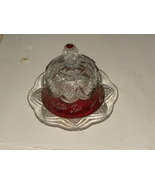 Antique Butter Dish George Duncan Ruby Flash Bu... - $300.00