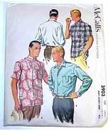 1956 MEN'S SHIRTS Pattern 3903-m Size Small UNCUT - $12.99