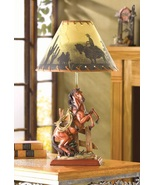 Western Table Desk Lamp with Horse Base - $31.00