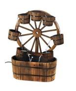 Western Wagon Wheel Buckets Electric Water Foun... - $156.00