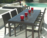 Buy Furniture - 7 pc Outdoor Wicker Dining Table Set Patio Furniture