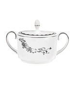 VERA WANG Wedgwood Fleurs Covered Sugar Bowl Bo... - $47.87