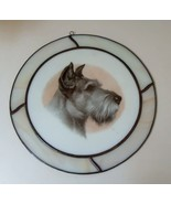 Schnauzer Stained Glass Round Window Decoration - $19.99
