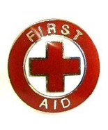 First Aid Red Cross Lapel Collar Pin Device Vol... - $9.97