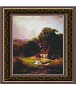The Old Mill, Trees Counted Cross Stitch Pattern - $42.00