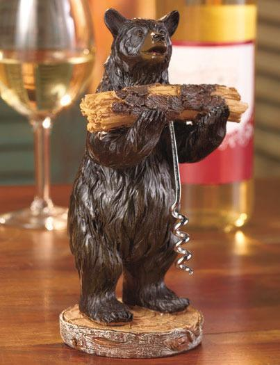 Image 0 of 2-Pc. Rustic Bear Corkscrew Set