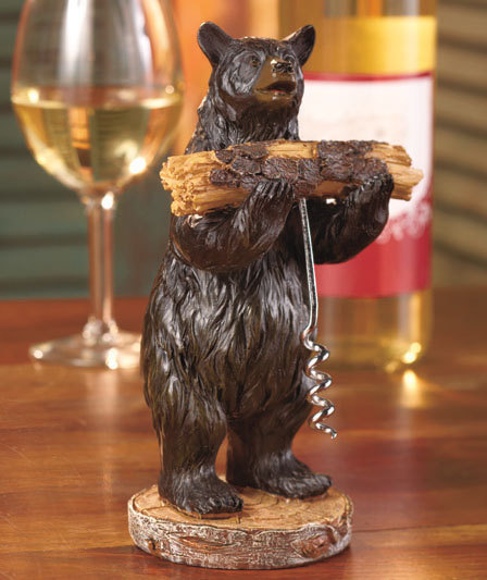 Image 1 of 2-Pc. Rustic Bear Corkscrew Set