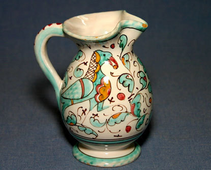 Unique Italian Ceramic Decorative Pitcher Vase