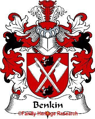 BENKIN Polish Coat of Arms Print BENKIN Family Crest