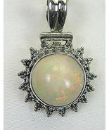 Large Ethiopian Opal Cabochon circle with Pink ... - $191.23