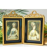 Pair Vintage Miniature Frames Shadow Box Metal ... - $28.95