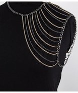 Shoulder Chain Body Armor Multi Chain Hematite ... - $21.99