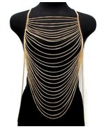 Body Chain Draping Chains Armor Gold Armour Sta... - $26.99