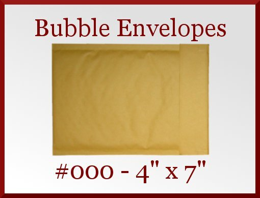 25 Kraft Coin 000 Bubble Padded Envelope Mailer 4 x 7 in Made in America