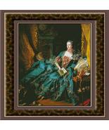Marquise de Pompadour, Fine Art Counted Cross S... - $39.00