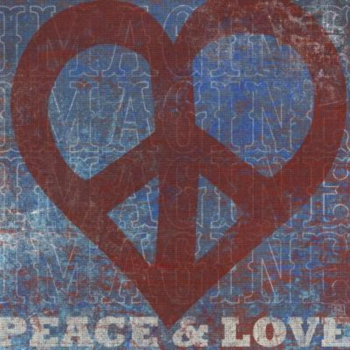 Imagine Peace Love(40in x 40in  Art Print)