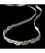 NWT Silver Rhinestone White Bridal Satin Ribbon... - $69.99