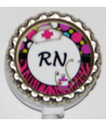 RN ID badge holder w retractable reel hp