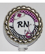 RN Nurse ID badge holder w retractable reel lp
