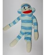 Street Players Sock Monkey Blue Stripes Plush S... - $9.99