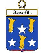 BEAUFILS French Coat of Arms Print BEAUFILS Fam... - $25.00