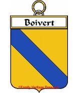 BOIVERT French Coat of Arms Print BOIVERT Famil... - $25.00