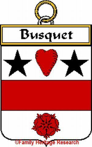 BUSQUET French Coat of Arms Print BUSQUET Family Crest