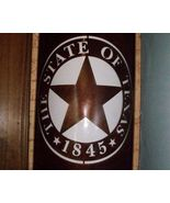 Wall Sconce, State Seal of Texas, by The Trends... - $135.00