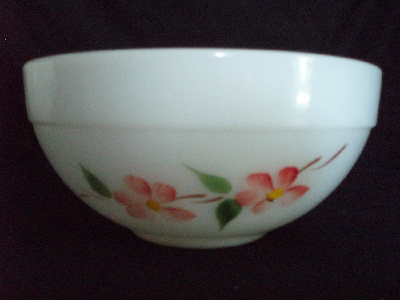 A-H Fire King Pyrex 7.5 bowl Peach Blossom Gay Fad Vintage