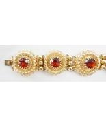 Napier Faux Garnet Bracelet c. 1950s - $125.00