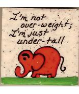 Vintage Elephant Ceramic Magnet