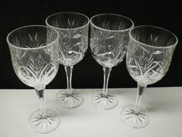 Set of 4 Fifth Avenue Portico Crystal Wine Hock... - $29.95