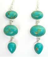 Southwestern Turquoise Ovals and Teardrops Ster... - $121.55