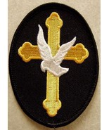 Embroidered Christian Patch The Cross and The D... - $3.22