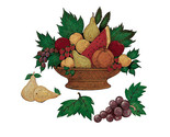 Buy Warren Kimble Fruit Basket Wallies Mural SALE!