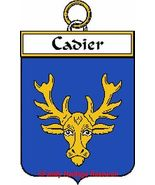 CADIER French Coat of Arms Print CADIER Family ... - $25.00