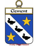 CLEMENT French Coat of Arms Print CLEMENT Famil... - $25.00