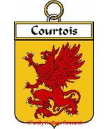 COURTOIS French Coat of Arms Print COURTOIS Fam... - $25.00