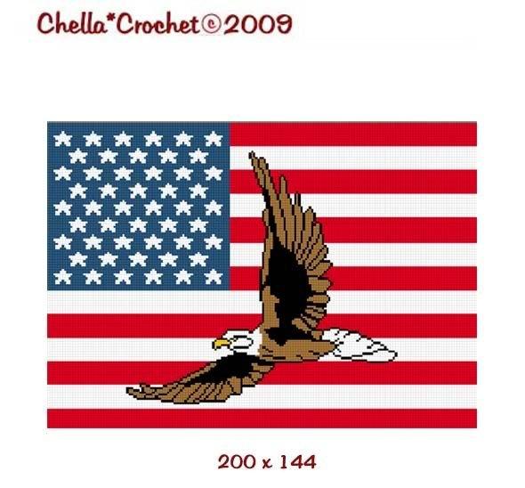 FLAG CROCHET PATTERN GRAPHS