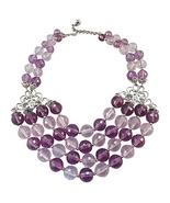 Napier Faceted Purple Bead Couture Runway Bib N... - $215.00