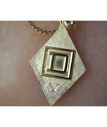 Vintage Initial D Pendant Gold Necklace Jewelry... - $22.50
