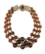 Napier Beaded Runway Couture Necklace c. 1950s - $190.00