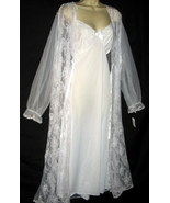 Plus White Bridal Peignoir Long Nightgown 1X NWT