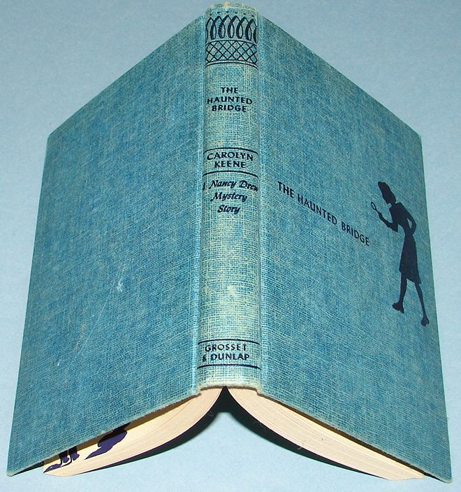 Nancy Drew #15 The Haunted Bridge Tweed Blue Sil 1937