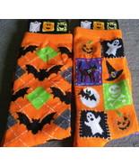 2 pr. Halloween Orange Bat Women's Socks Size 9... - $5.99