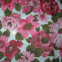 Vintage 30s 40s Rose Cotton Sewing Fabric Cotta... - $350.00