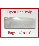 50 Open End Poly Bags 4 x 10 inches USDA FDA Ap... - $6.75
