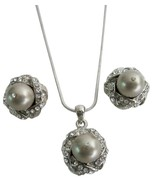 Affordable Taupe Pearls Rhinestones Inexpensive... - $22.48