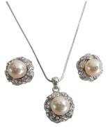 Bridal Bridesmaid Jewelry Peach Color Pendant N... - $22.48