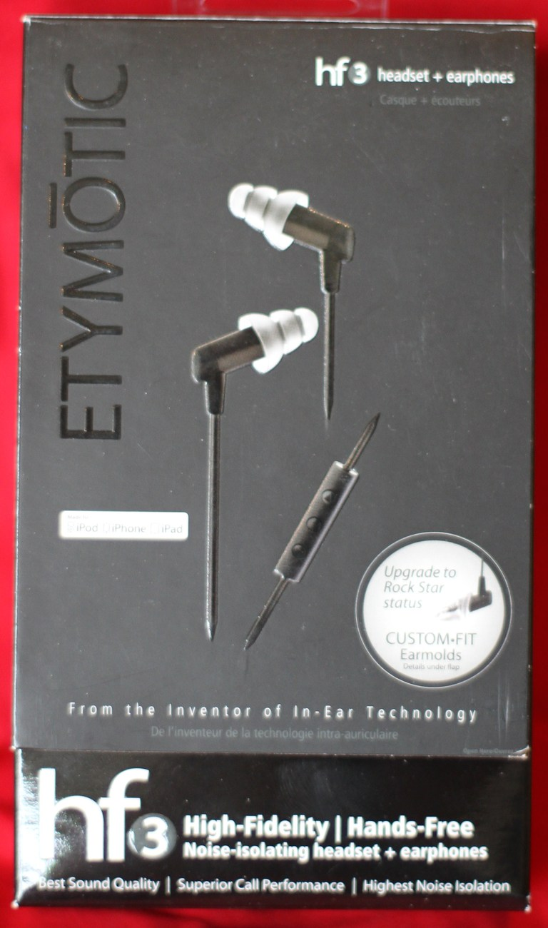 Etymotic HF3 earphones (Black) - Brand New